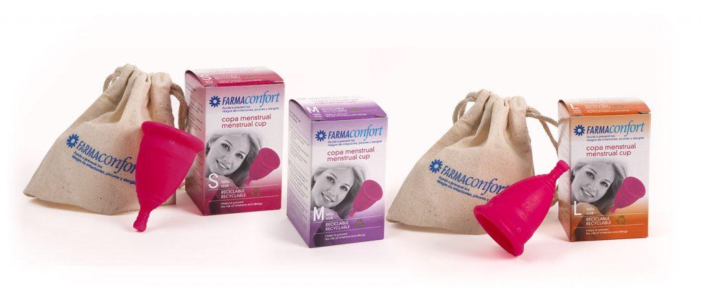 copas menstruales talla S M L Farmaconfort