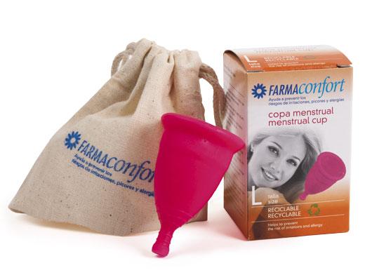 pack copas menstruales Farmaconfort talla L